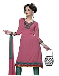 Surat Tex Pink Color Casual Wear Embroidered Georgette Semi-Stitched Salwar Suit-D663DL10RU