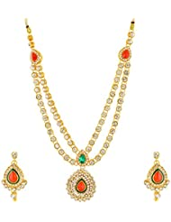 SR Non-Precious Metal Necklace Set For Women (SRKJEWELSNEC1-101470)- Set Of 2