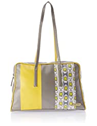 3 Mad Chicks Sling Bag (Yellow And Grey) (SH054)