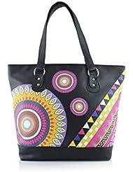 Shaun Design Multi Geometric Tote Bag (Black) (BT6002P)