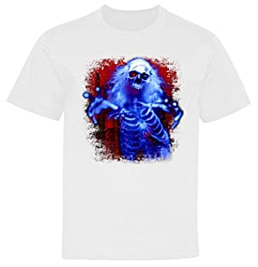 Sinister Skeleton Ghost Youth T-Shirt White XL (18-20)