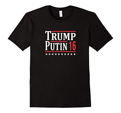 Trump and Clinton Halloween Costumes - Choose Edgy or Funny - Men's Trump Putin 2016 T-shirt Black