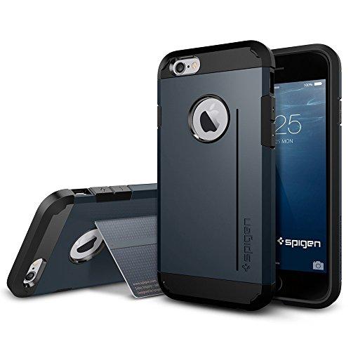 iPhone 6 ケース Spigen [スタンド機能] タフ・アーマーS Apple iPhone 4.7 (2014) (国内正規品) (メタル・スレート 【SGP11043】)