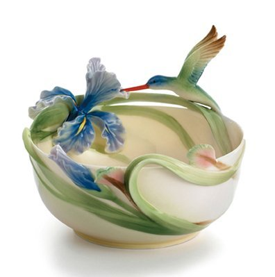 Franz Porcelain Long Tail Hummingbird Candy