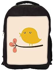 Snoogg Bird Life Minimal Backpack Rucksack School Travel Unisex Casual Canvas Bag Bookbag Satchel