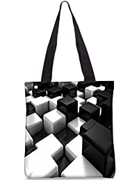 Snoogg Cubes On The Floor Digitally Printed Utility Tote Bag Handbag Made Of Poly Canvas