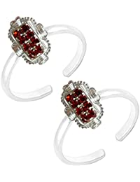 Red Stone Toe Ring Antique Designer Fashionable Toe Ring For Women