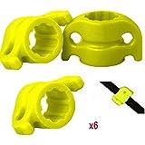 Bowtactix Bowfishing Arrows Safety Slides (Pack Of 6), Yellow 5/16-inch (Inside Diamerter)
