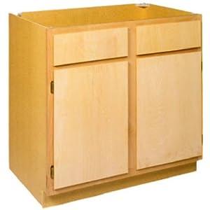 Zee Manufacturing Ltd 24 Wide Unfinished Birch Kitchen Base Cabinet