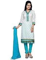 Roopali Creations Women's Chanderi Silk Salwar Suit Set - B013SVOBXO