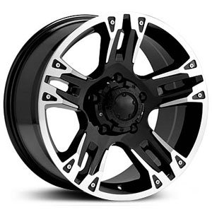 Ultra Maverick 16 Black Wheel / Rim 8×6.5 with a 10mm Offset and a 125 Hub Bore. Partnumber 235-6882B