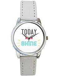 Bigowl Today You Will Shine Typography Analog Women's Wrist Watch 2003748603-RS3-S-WHT