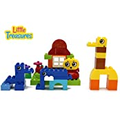 Children Zoo Park Building Block 50 Pieces Duplo Compatible Toy Set For 3+ Preschool Kids