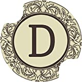 Set Of Two Monogram D Thirstystone Carster Car Drink Coasters - Style DMD