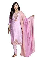 AASRI Pure Cotton 3 Piece Unstitched Salwar Suit - B014308RES