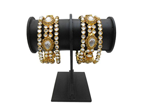 Antique Gold Plated Kundan Bangles Set By My Design(size-2.4)