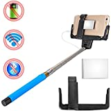 Maxry TM Blue Extendable Flexible Wired Control Selfie Stick Phone Monopod Mirror For Gopro XC216