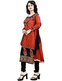 White World Women's Cotton Printed Unstitched Regular Wear Salwar Suit Dress Material