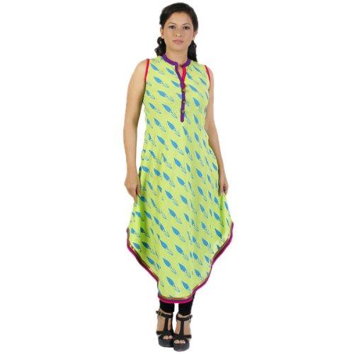 Assesa Women Cotton Blue Printed Tunic
