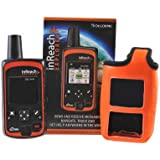 DeLorme InReach Explorer Two-Way Satellite Communicator With Built In Navigation With An ORANGE Flotation Case...