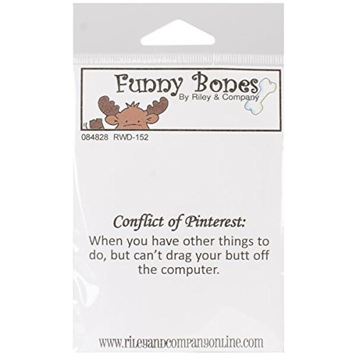 Riley & Company Funny Bones Cling Mounted Stamp, 2 by 1.25-Inch, Conflict of Pinterest