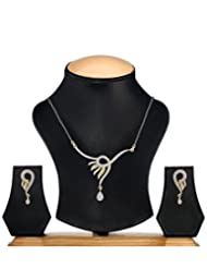 YouBella Women's Pride American Diamond Gold Plated Mangalsutra Pendant With Chain For Women - B018G8PC14