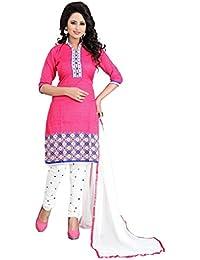 Marmic Fab Women's Cotton Printed Unstitched Regular Wear Salwar Suit Dress Material(MR_Dressmaterial_529)