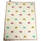 Cocobee Baby Quilt In Handblocked Prints - B01H3R4S7I
