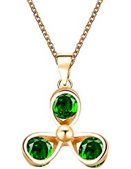 Hot And Bold Fascinating Gold Plated American Diamond Chain, Pendant For Women & Girls. Made With Alloy, Crystal...