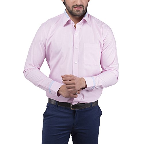 Tag & Trend Men's Slim Fit Formal Wear PINK Shirt By TRADIX INNOVATIONS