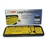 Ezsee Low Vision Keyboard Large Print Yellow Keys By Ergoguys