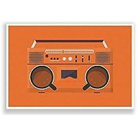 PosterGuy Coffee Boom Box Minimalist Illustration Poster (A4)