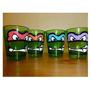 Teenage Mutant Ninja Turtles Faces 4-pack Shot Glasses