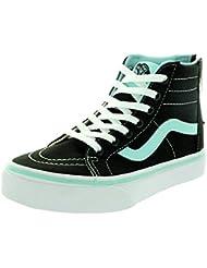 Vans Kids Sk8-Hi Zip Pop Skate Shoe Black/Blue Tint 11 M US Little Kid