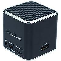Music Angel Mini Speaker Universal Portable Stereo Loudspeaker Support USB Micro SD TF Card U Disk FM Radio Blue... - B01GCEV4A2