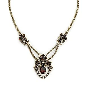 Victorian Costume Jewelry  Garnet and Pearl Pendant Necklace                                                                      Sweet Romance Garnet and Pearl Pendant Necklace                               $64.00 AT vintagedancer.com