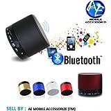 AEMA(TM) Portable Bluetooth S10 Mini Wireless Speaker With MIC FM Memory Card Slot USB Slot (COLOUR MAY VARY)