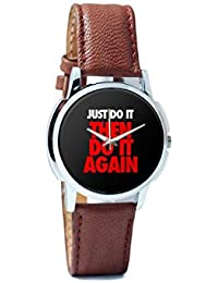 BigOwl Just Do It Then Do It Again Men's Analog Wrist Watch 2003078302-RS1-W-BRW