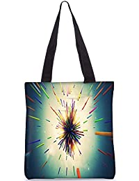 Snoogg Abstract Amazed Design Digitally Printed Utility Tote Bag Handbag Made Of Poly Canvas