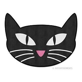 Retro Black Cat Throw Rug Bath Mat