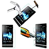 TEMPERED GLASS SHOCKPROOF SCREENGUARD For SONY XPERIA P LT22i MOBILE