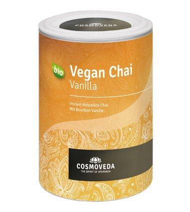 COSMOVEDA Vegan Chai Vanilla 200g (bio, vegan) Instant Reismilch Bourbon Vanille
