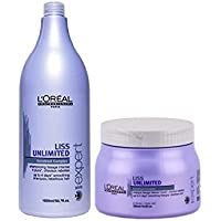 Loreal Professional Liss Ultimate Smoothing Shampoo 1500 Ml + Mask 490 Gm With Free Ayur Sunscreen 50 Ml