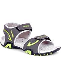 Touchwood Men's Aspen Grey/Green Sandals & Floaters