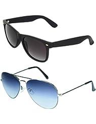 Zyaden COMBO Of Wayfarer Sunglasses & Aviator Sunglasses (Combo-8)