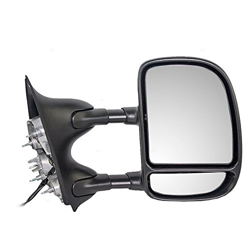 Passengers Telescopic Tow Power Side View Mirror with Dual Arms Replacement for Ford SUV Pickup Truck 3C3Z 17682 DAA