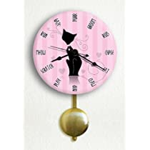 Elegant & Stylish Cat 6 Silent Pendulum Wall Clock