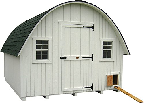 Little Cottage Company Round Roof Coop Panelized Playhouse Kit, 10' x 14'
