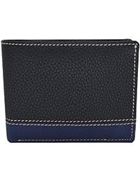 Knott Black & Blue Casual Wallet For Men