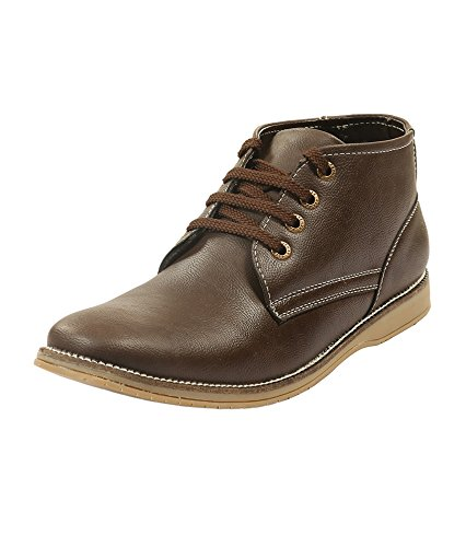 Adammo Men's Brown Synthetic Leather Ankle Length Boots